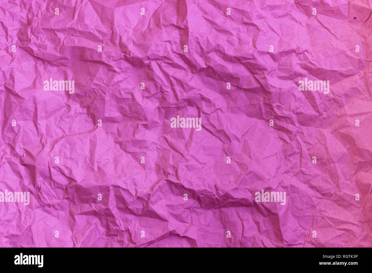 Purple wrinkle recycle paper background  Texture of crumpled