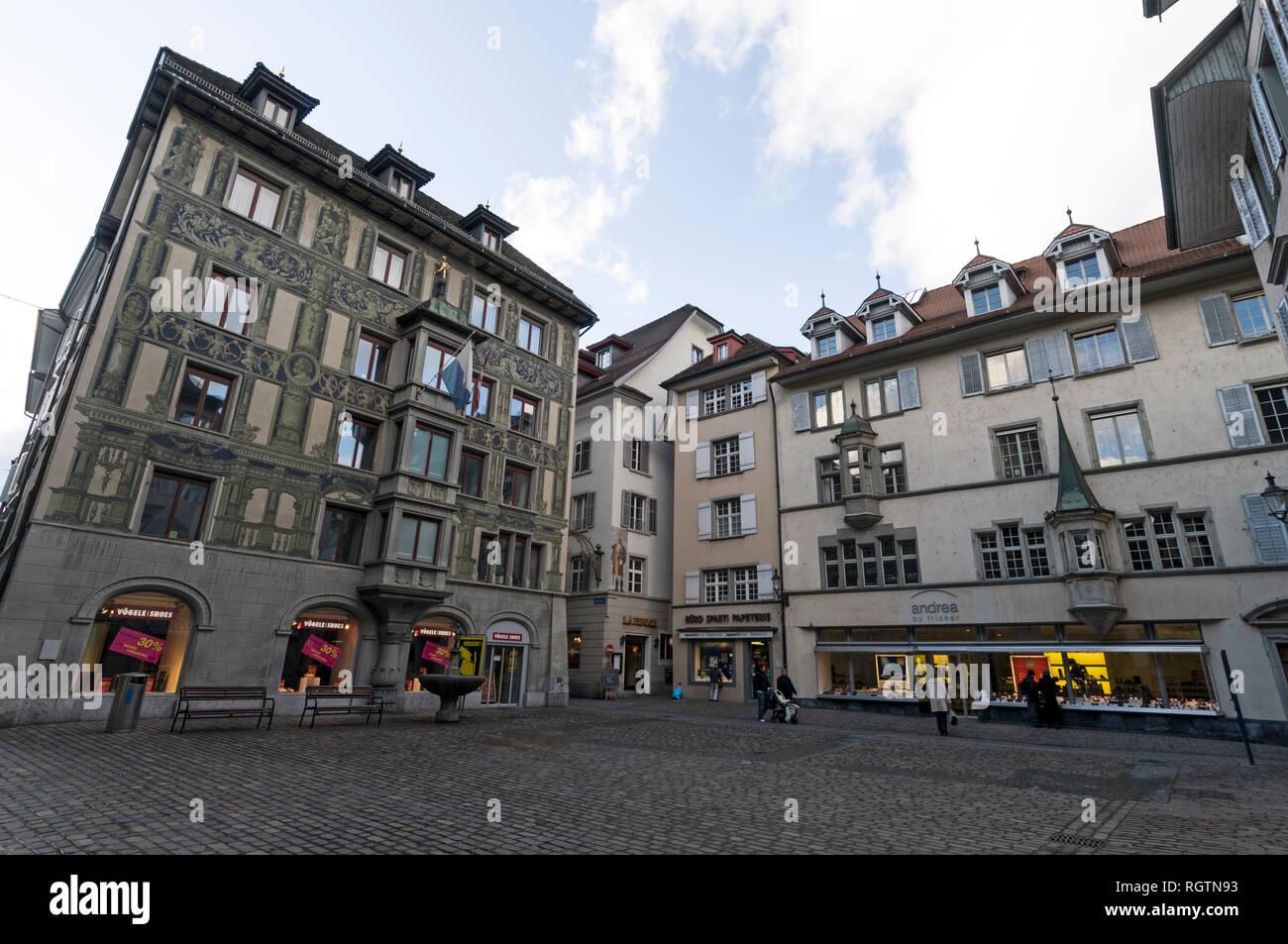 official photos 5351c f6b9a Hirschenplatz Luzern Switzerland Stock Photos ...