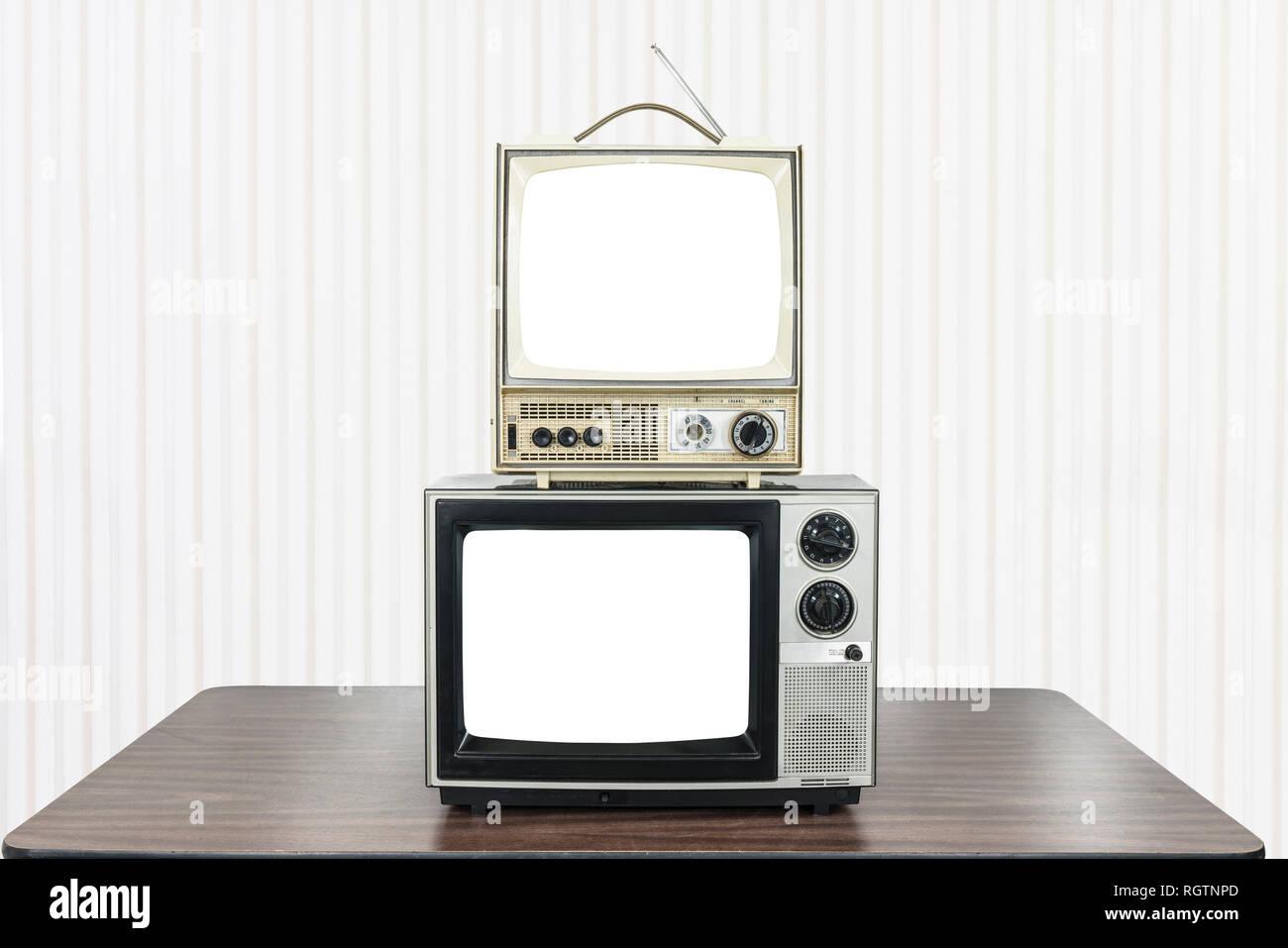 Television Set 1980s Stock Photos & Television Set 1980s