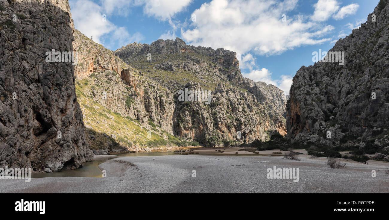 Torrent de Pareis gorge, Sa Calobra, Mallorca Stock Photo