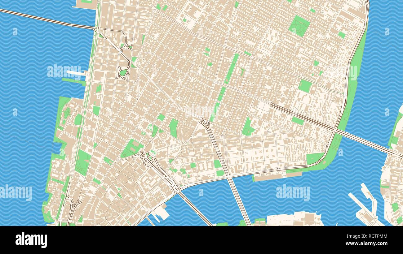 Street Map Of New York City.New York City Map Streets Stock Photos New York City Map Streets