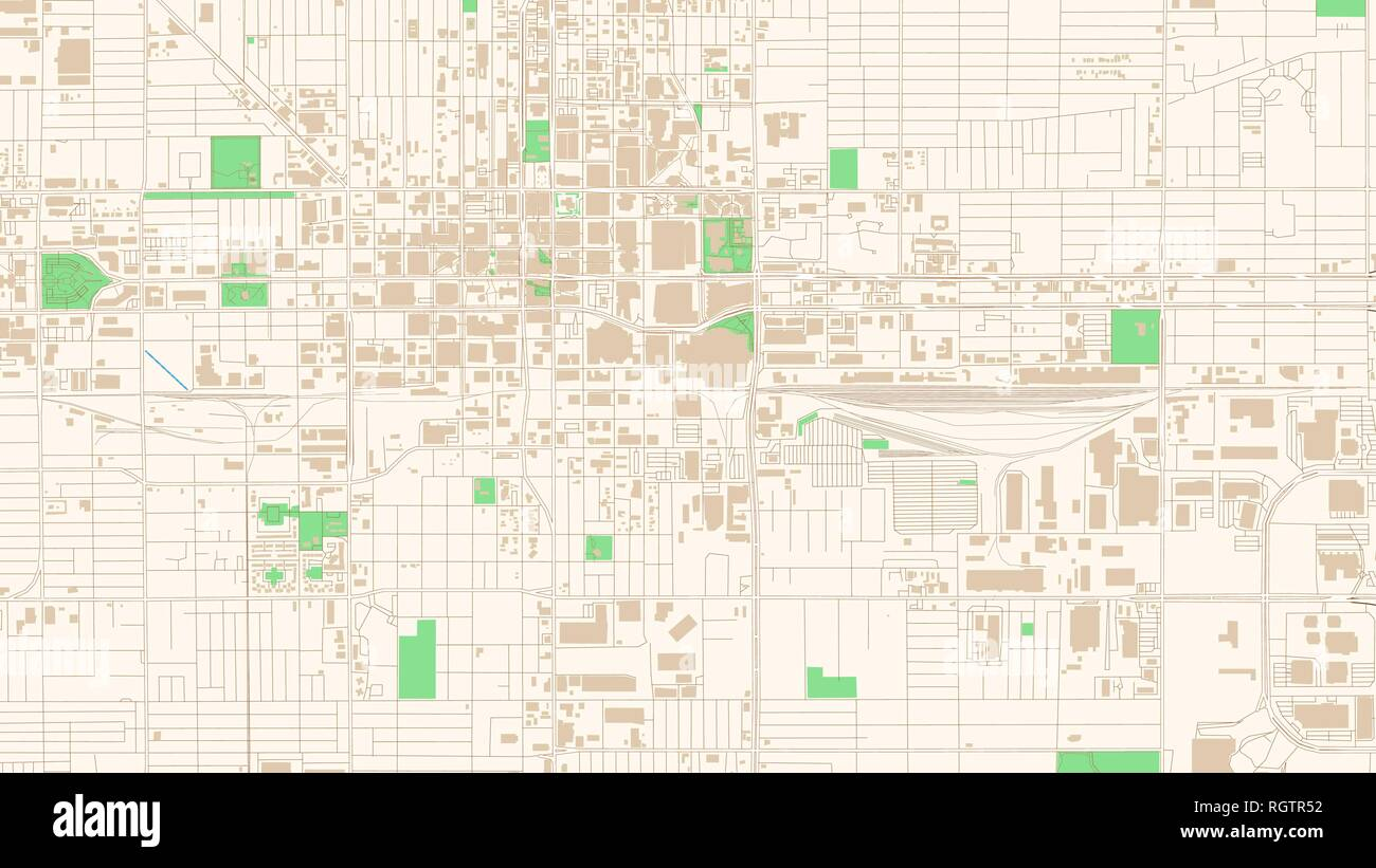 Street map of Phoenix, Arizona. This classic colored map of ...