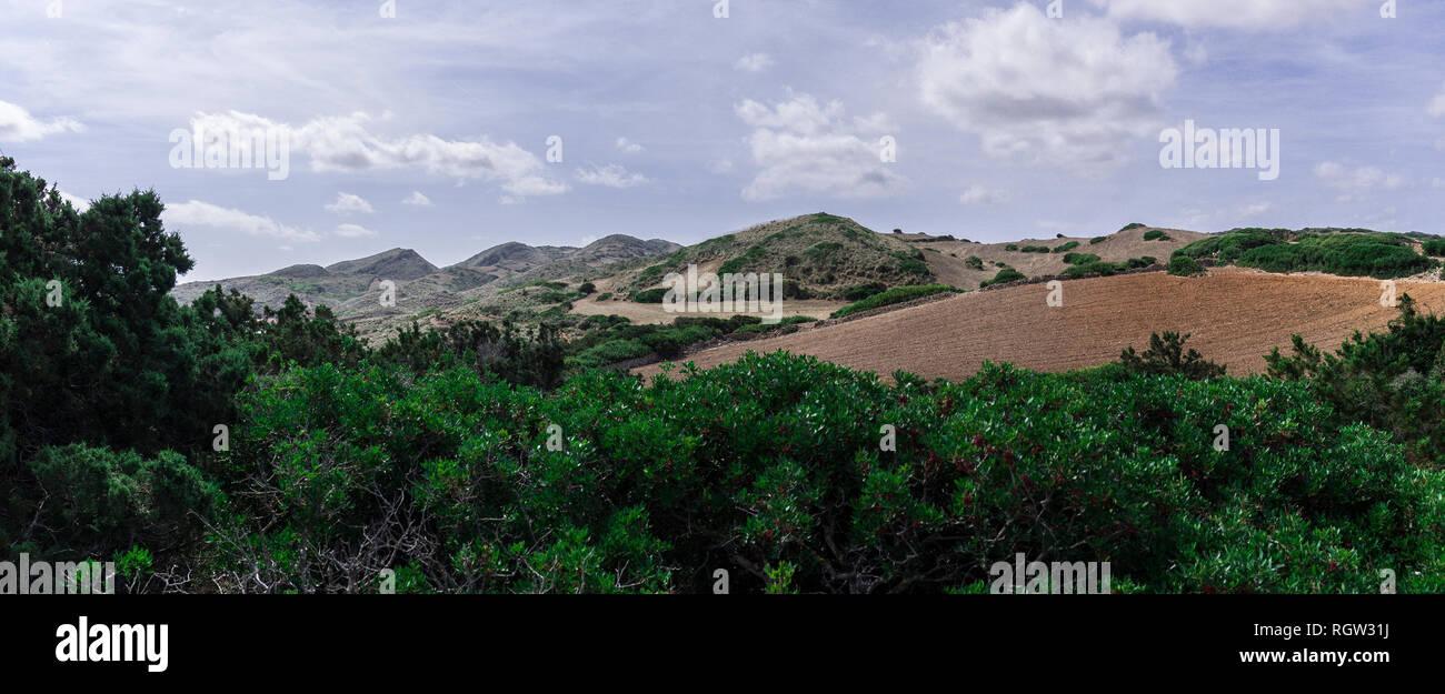Along the Cami de Cavalls coastal walk in Minorca island. - Stock Image