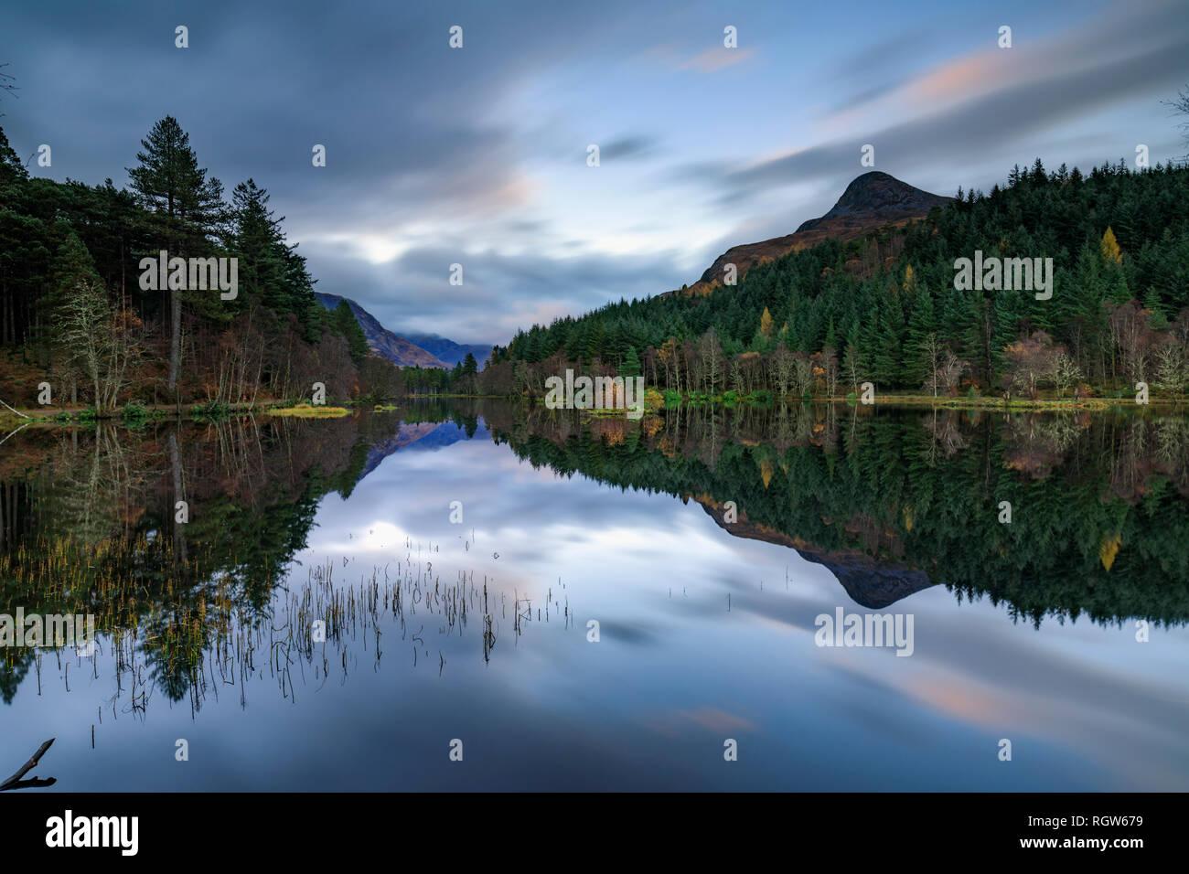 Glencoe Lochan in the Scottish Highlands - Stock Image