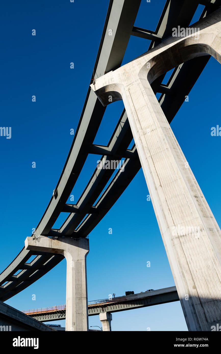 Construction of hi-way infrastructure, Orlando, Florida, USA. Stock Photo