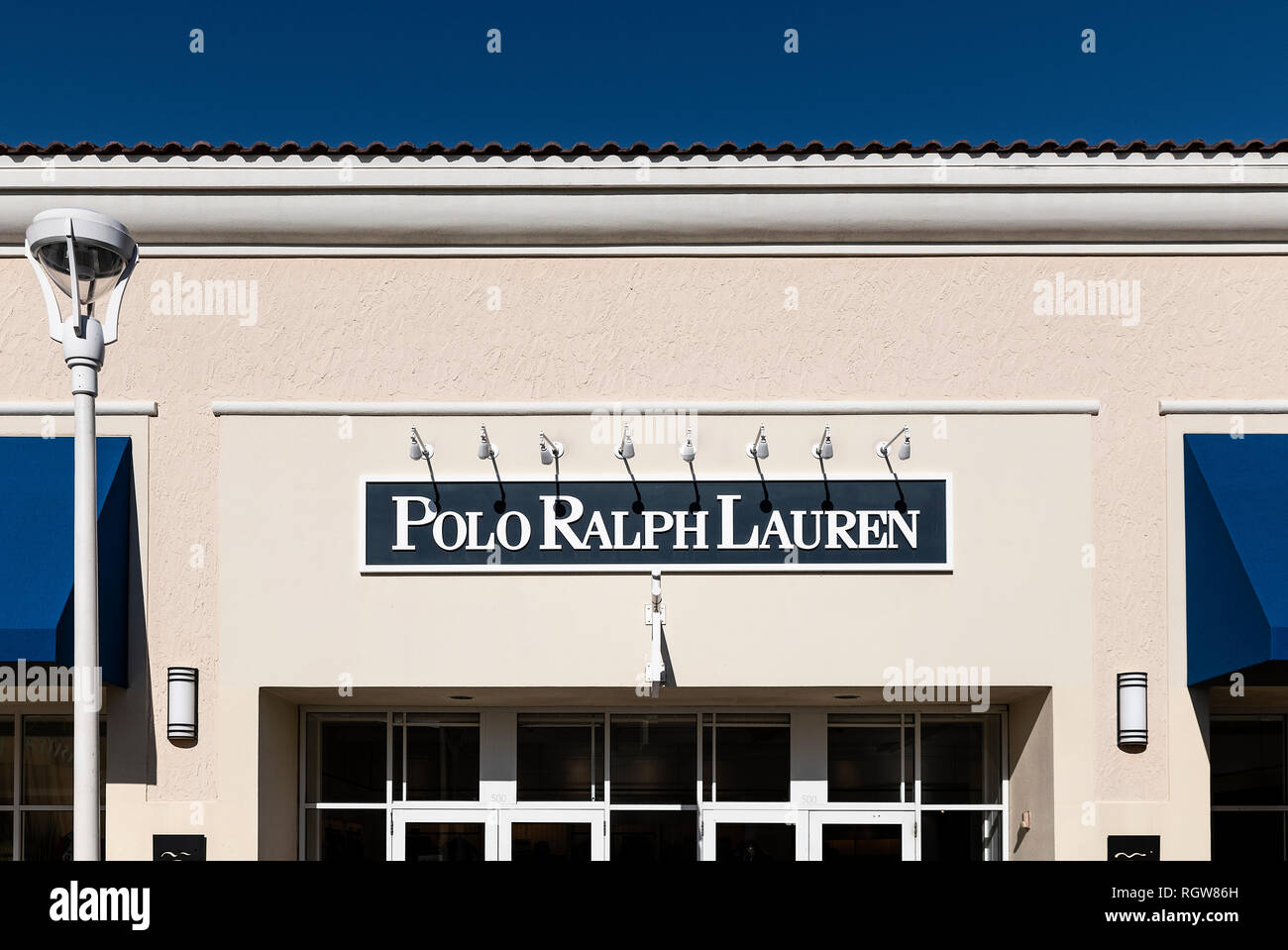 Polo by Ralph Lauren factory store, Orlando, Florida, USA. - Stock Image