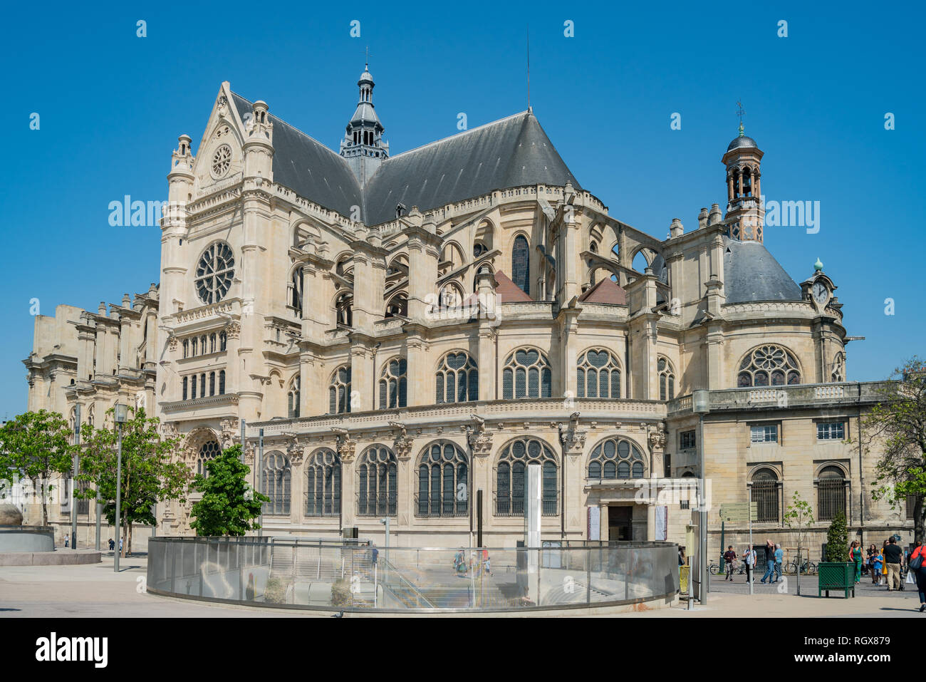 France, MAY 7: Exterior view of the famous Church of St Eustache on MAY 7, 2018 at Paris, France Stock Photo