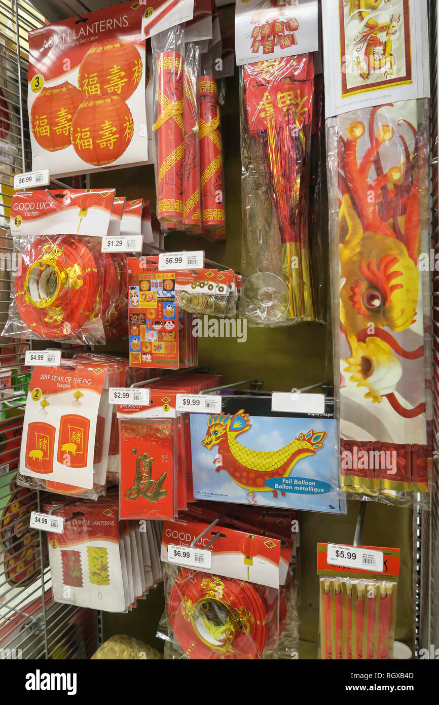 Traditional Decorations Display Party City Stock Photos