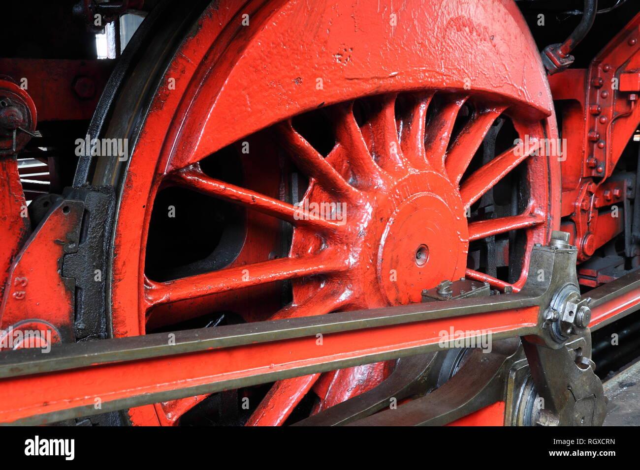 Steamer wheel Stock Photo