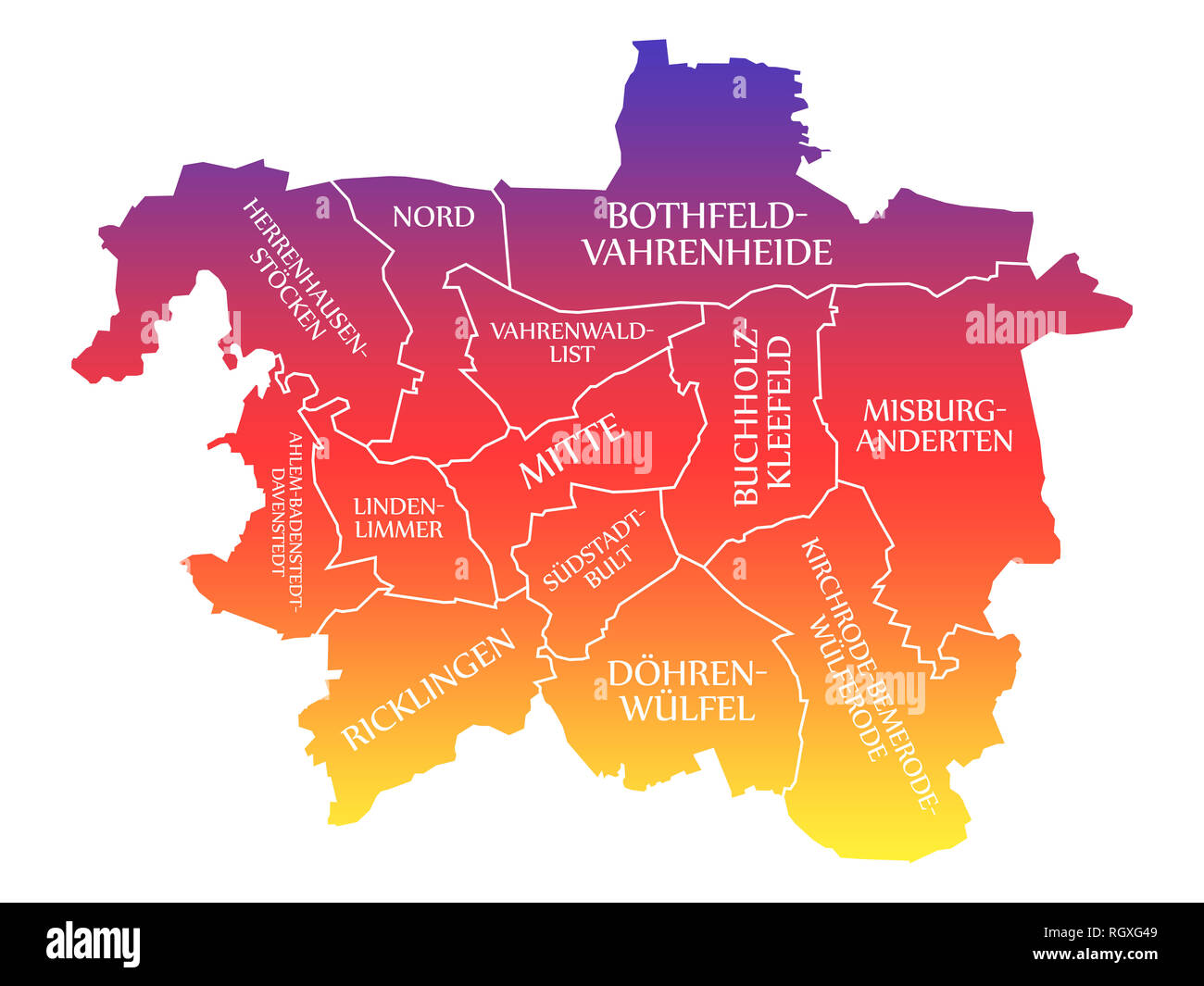 Hannover Germany Map Stock Photos Hannover Germany Map Stock