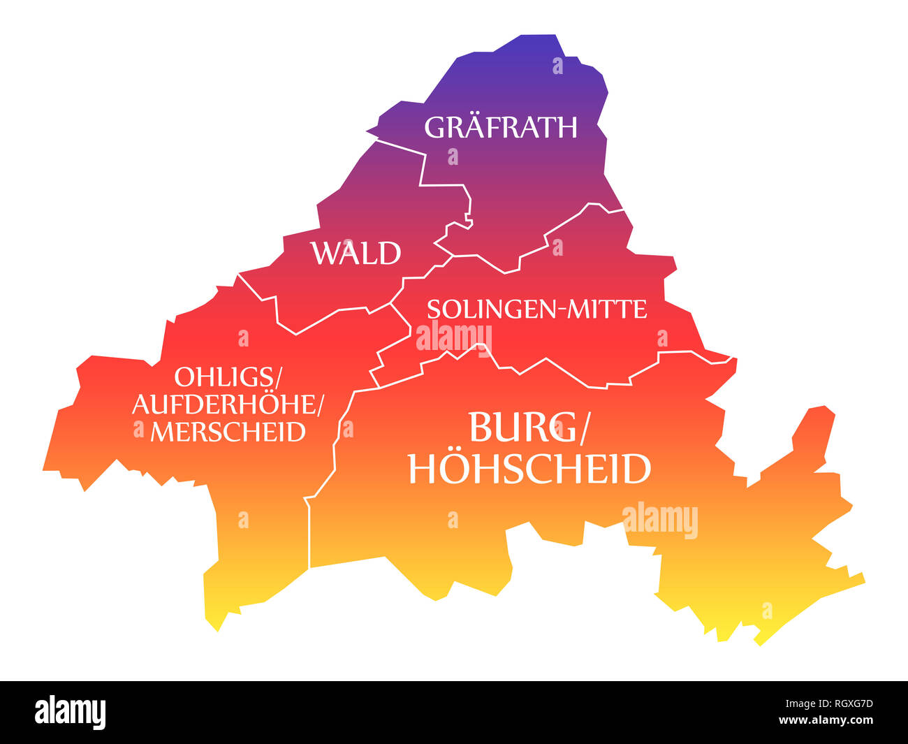 Germany Map City Stock Photos Germany Map City Stock Images
