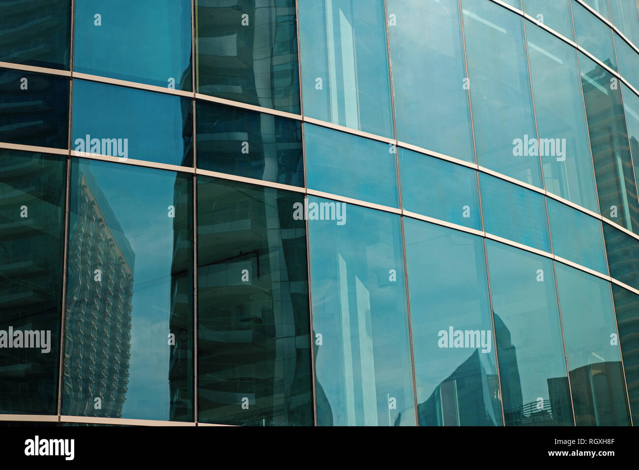 Glass facade panels of office building, architecture background. Construction, structure, house, property. Architecture, design decor exterior Business finance commerce Stock Photo