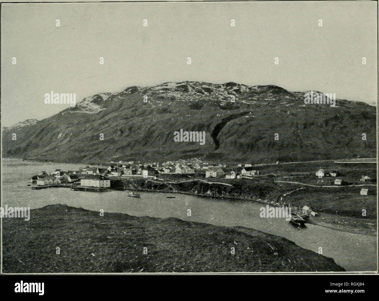 . Bulletin. 1901-13. Agriculture; Agriculture. Bui. 82. Bureau of Plant Industry, U. S. Dept of Agriculture. Plate IV.. Fig. 1.—A View of Kadiak, Alaska, November 7, 1903.. Please note that these images are extracted from scanned page images that may have been digitally enhanced for readability - coloration and appearance of these illustrations may not perfectly resemble the original work.. United States. Bureau of Plant Industry, Soils, and Agricultural Engineering. Washington Govt. Print. Off - Stock Image