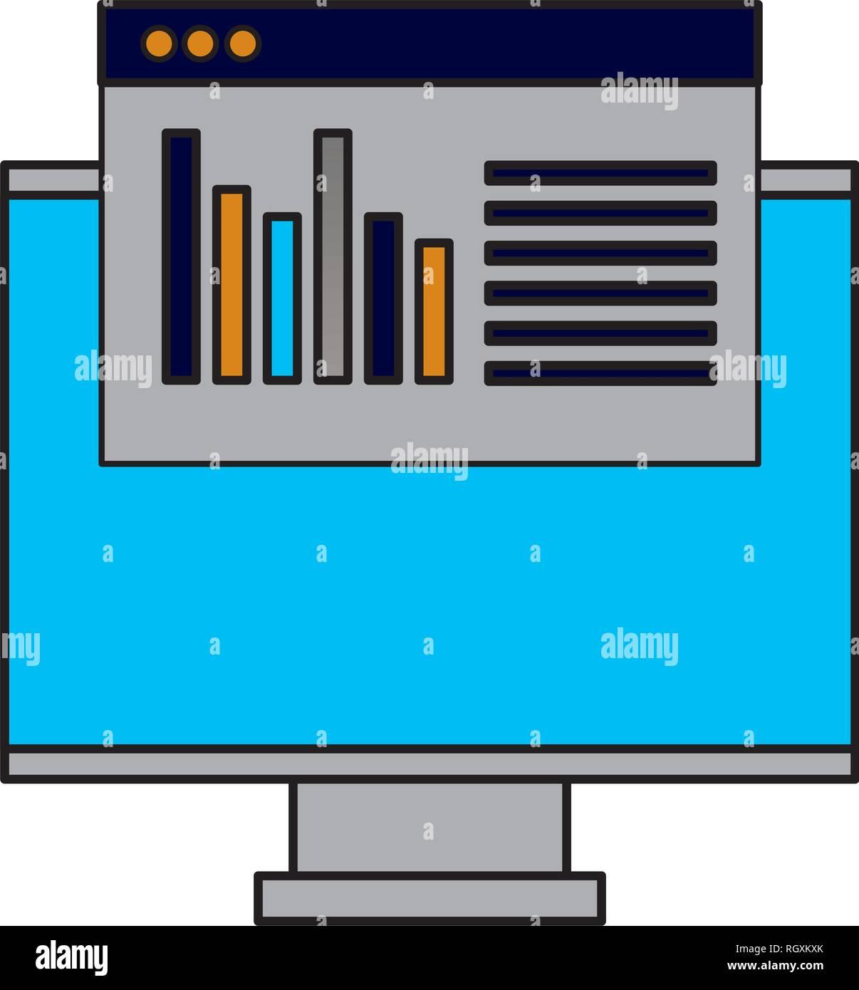 computer monitor website - Stock Image