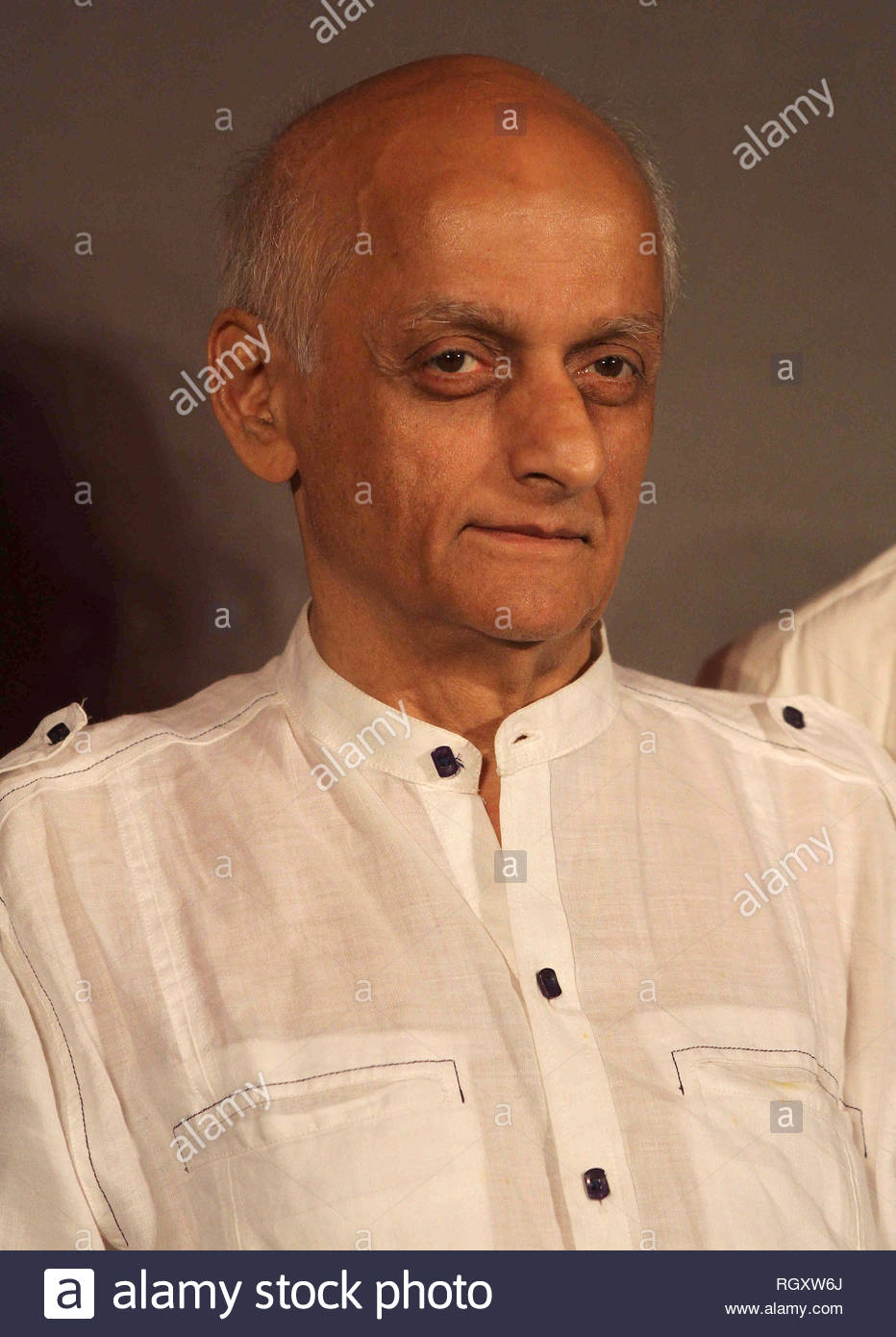 Bollywood filmmaker Mukesh Bhatt during a press conference announcing the South Africa India Film and Television Awards (SAIFTA) in Mumbai, India on July 15, 2013. (Shailesh Andrade) - Stock Image