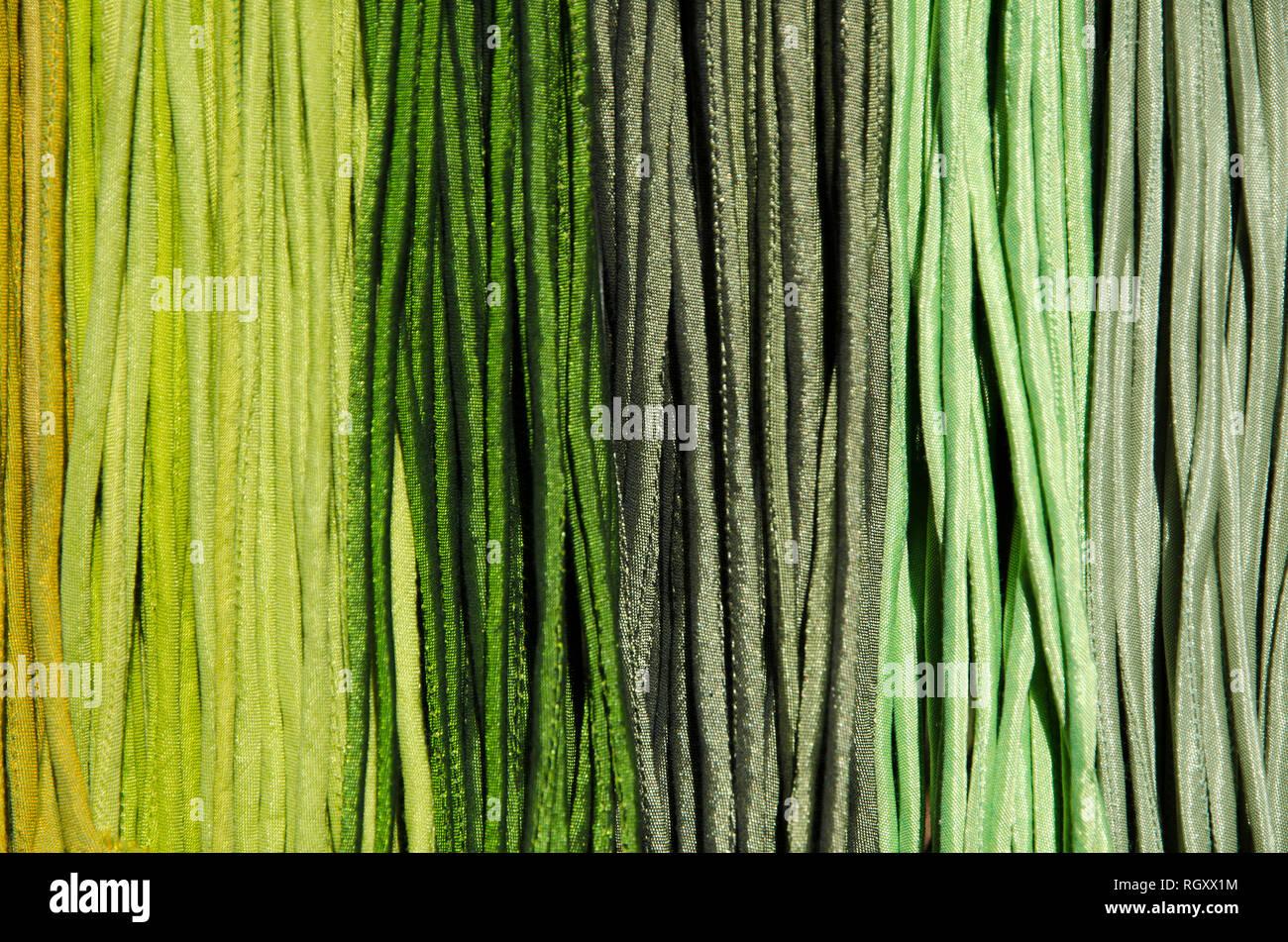 Multi-Colored Striped Fabrics. - Stock Image