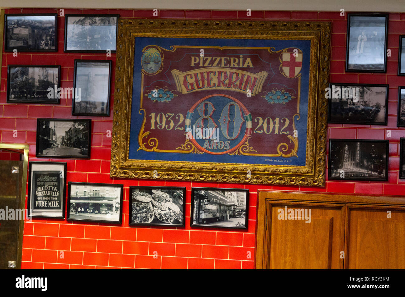 Buenos Aires State/Argentina 25/06/2014.Decoration at the Pizzeria ...