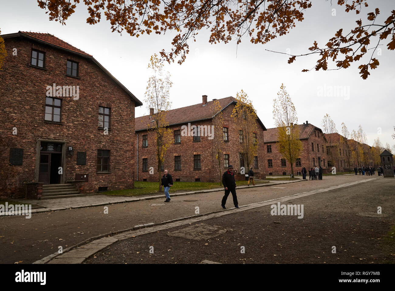 Auschwitz. Poland-11-December, 2015: Inside the hell of Auschwitz and Birkenau concentrations camp. - Stock Image
