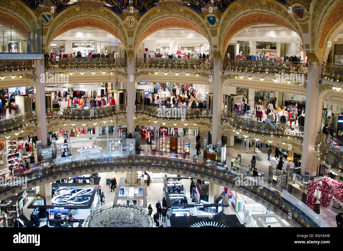 Clothes Shopping Galeries Lafayette High Resolution Stock ...