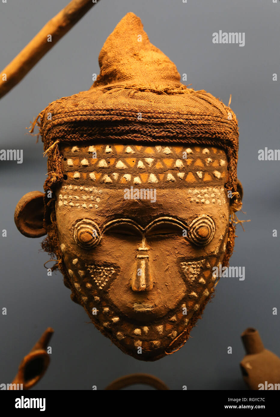 Masck, Lele. African object. Congo. American Museum of Natural History. NY. United States. - Stock Image