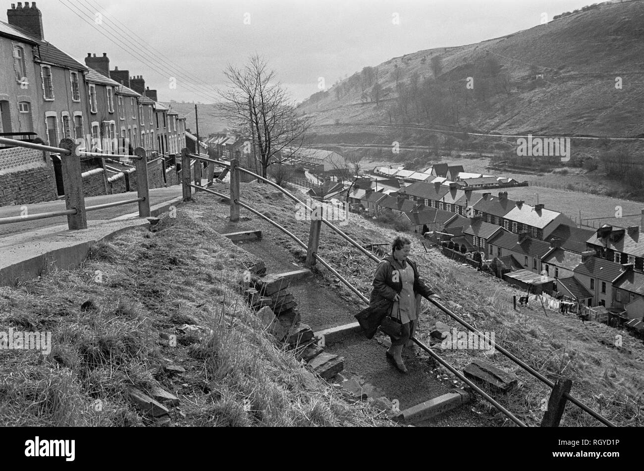 New Tredegar, South Wales,1987 - Stock Image