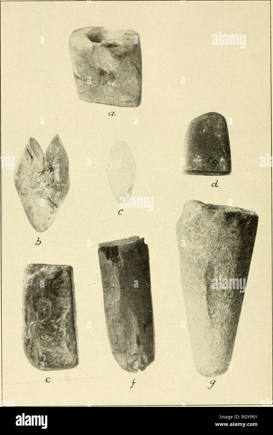 BUREAU OF AMERICAN ETHNOLOGY BULLETIN 92 PLATE 29 MISCELLANEOUS STONE