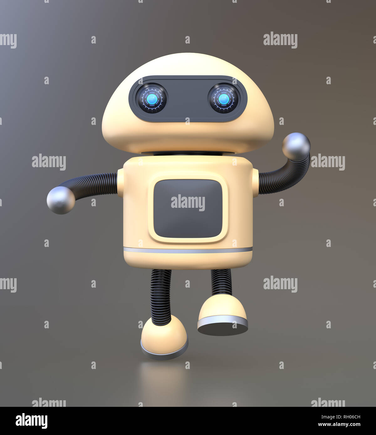 Cartoon Robot Droid Illustration Stock Photos & Cartoon