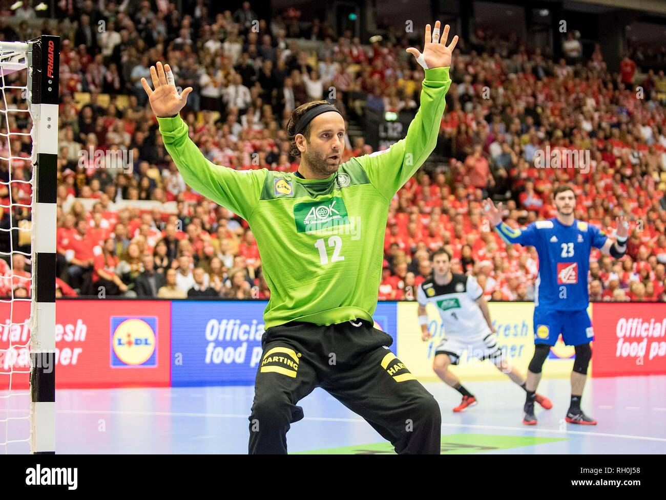 goalkeeper Silvio HEINEVETTER (GER) action. Third place, Germany (GER) - France (FRA) 25:26, 27/01/2019 in Herning/Denmark Handball World Cup 2019, from 10.01. - 27.01.2019 in Germany/Denmark. | usage worldwide Stock Photo