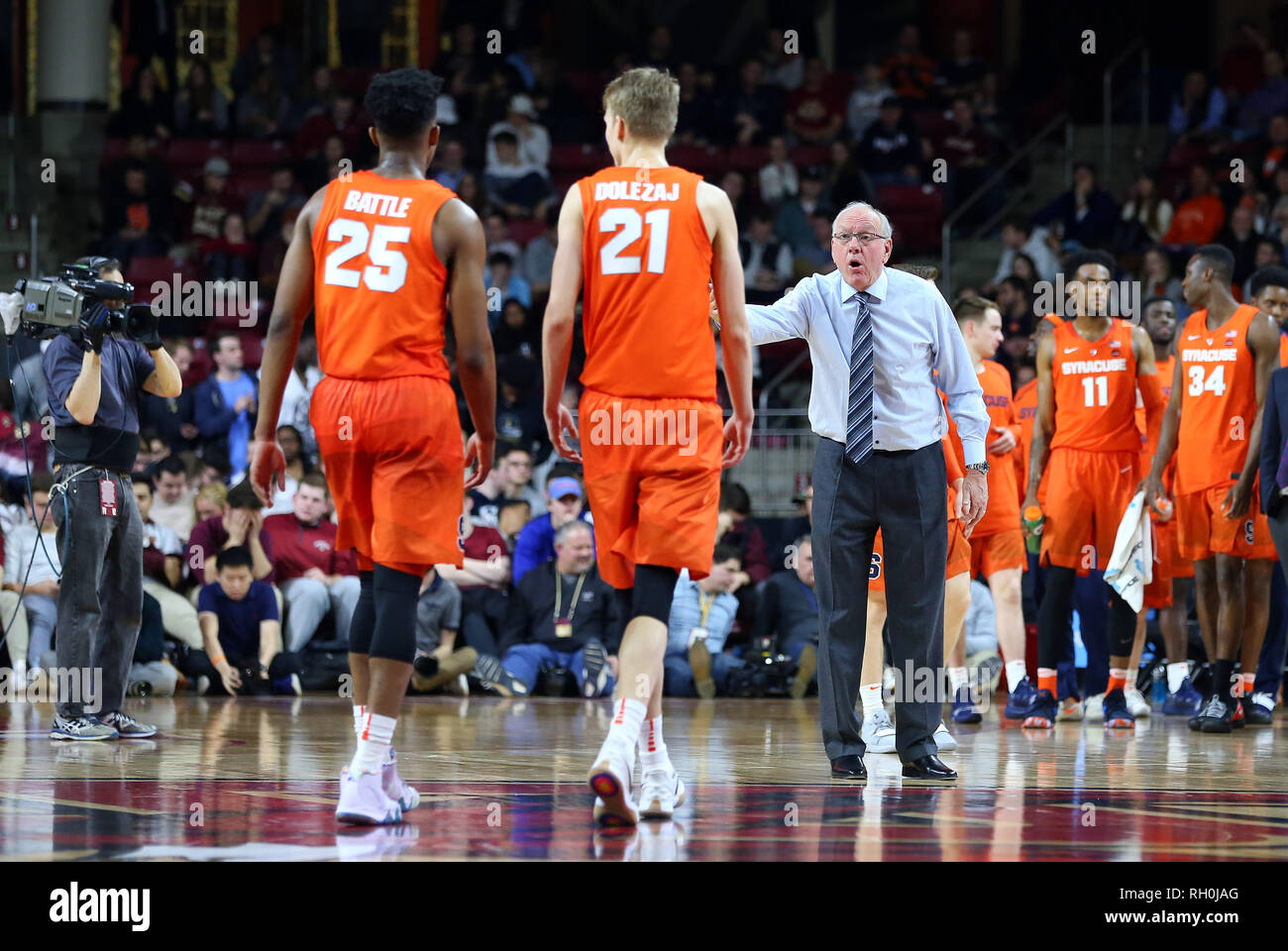 Conte Forum 30th Jan 2019 Ma Usa Syracuse Orange Head