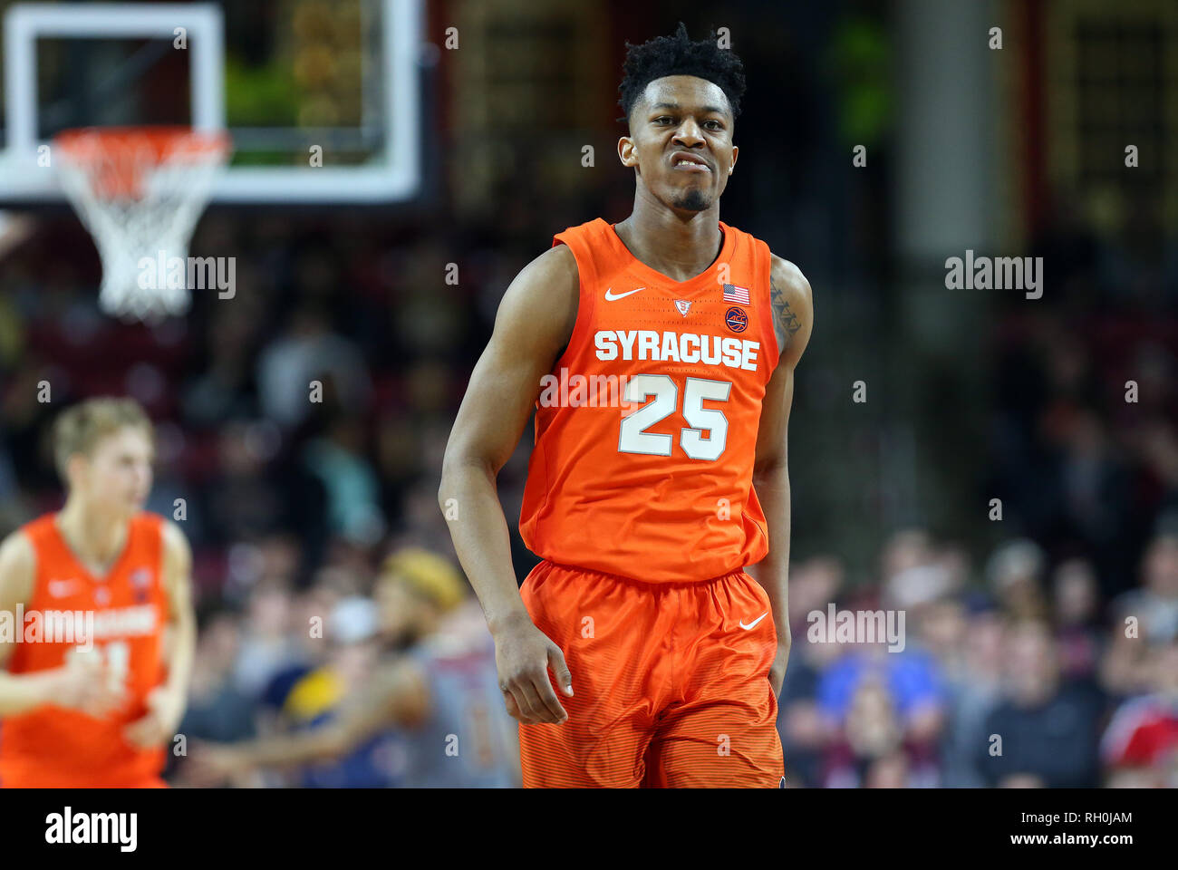 Conte Forum 30th Jan 2019 Ma Usa Syracuse Orange Guard Tyus