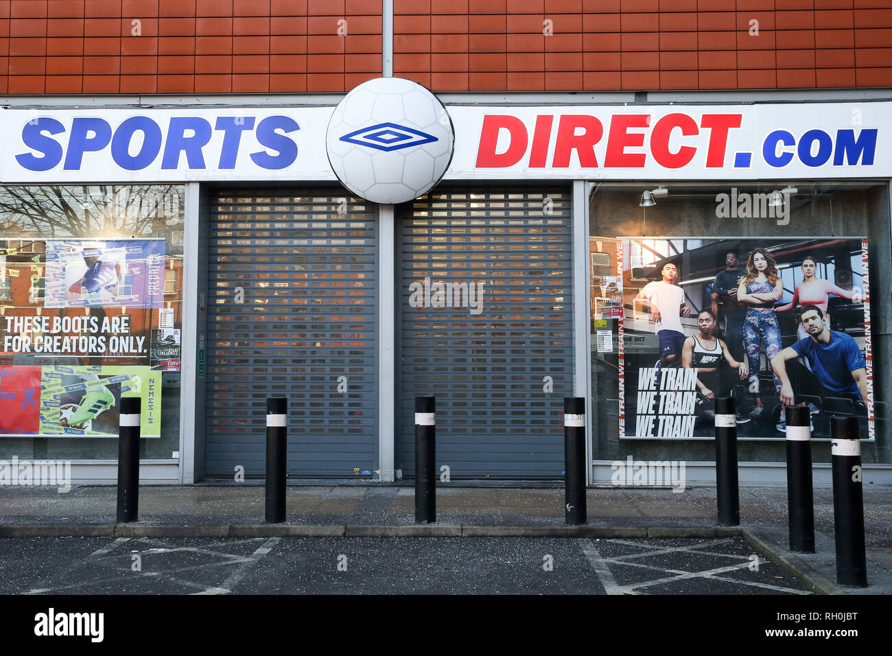 United Kingdom. 31st Jan, 2019. A general view of Sports Direct store in London. The Environmental Audit Committee led by Labour MP Mary Creagh has reported that retailer such as Sports Direct are 'failing to take action'' to reduce their environmental impact. Credit: Dinendra Haria/SOPA Images/ZUMA Wire/Alamy Live News - Stock Image