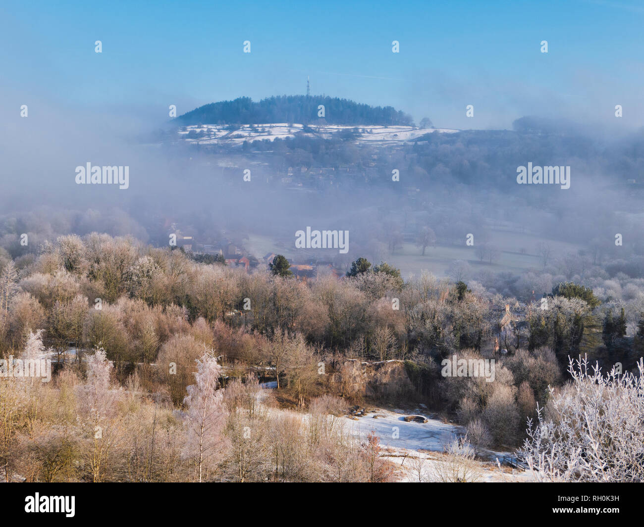 Bolehill, Wirksworth, Derbyshire Dales. 31st Jan 2019. UK Weather: Bolehill in the snow on a very cold winter day, Bolehill, Wirksworth, Derbyshire Dales Credit: Doug Blane/Alamy Live News Stock Photo