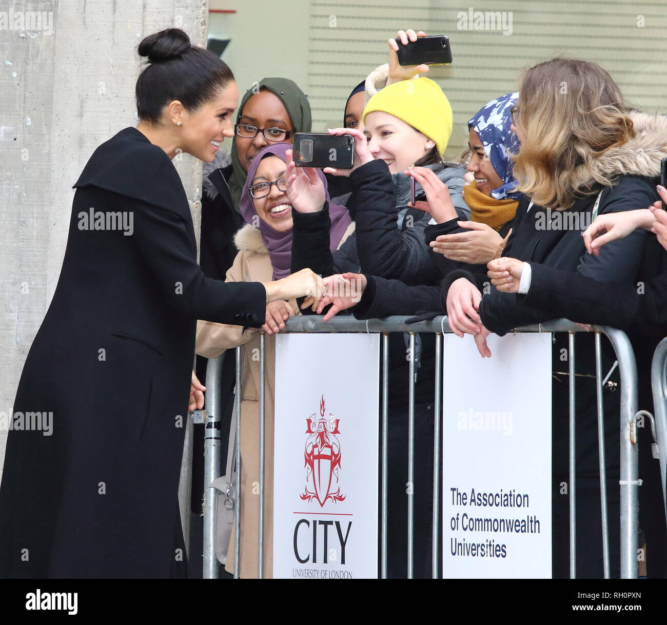 London, UK. 31st Jan, 2019. The Duchess of Sussex attended an engagement with the Association of Commonwealth Universities (ACU) in London to meet with students and academics from across the ACU's network. This will be Her Royal Highness's first official visit with the ACU in her new role as Patron Credit: Keith Mayhew/SOPA Images/ZUMA Wire/Alamy Live News - Stock Image
