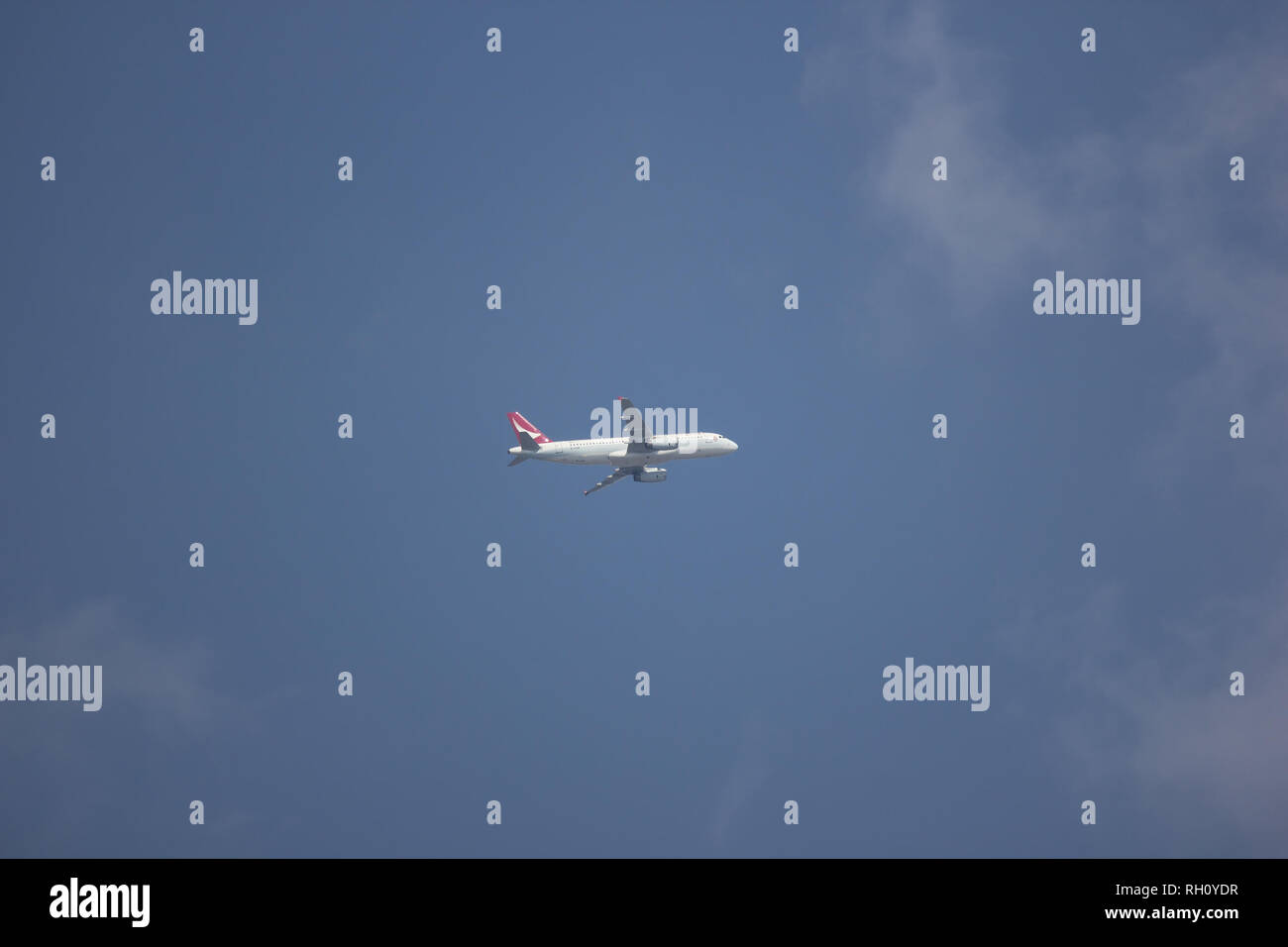 Chiangmai, Thailand - January 11 2019:  B-HSM Airbus A320-200 of Dragonair. Take off from  Chiangmai airport to Hongkong airport. - Stock Image