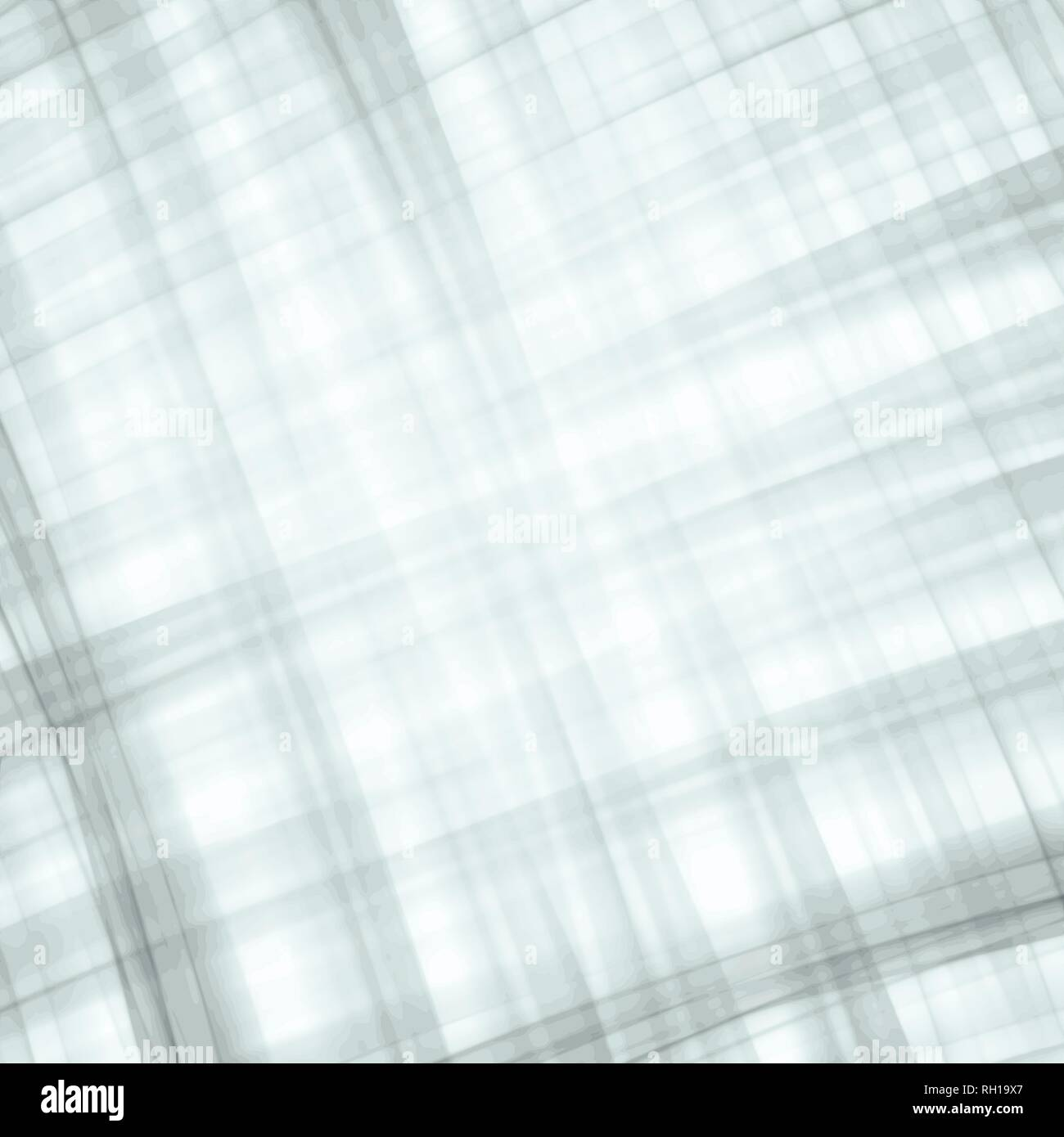 grey and green watercolor warped checkered plaid background pattern, vector illustration - Stock Image