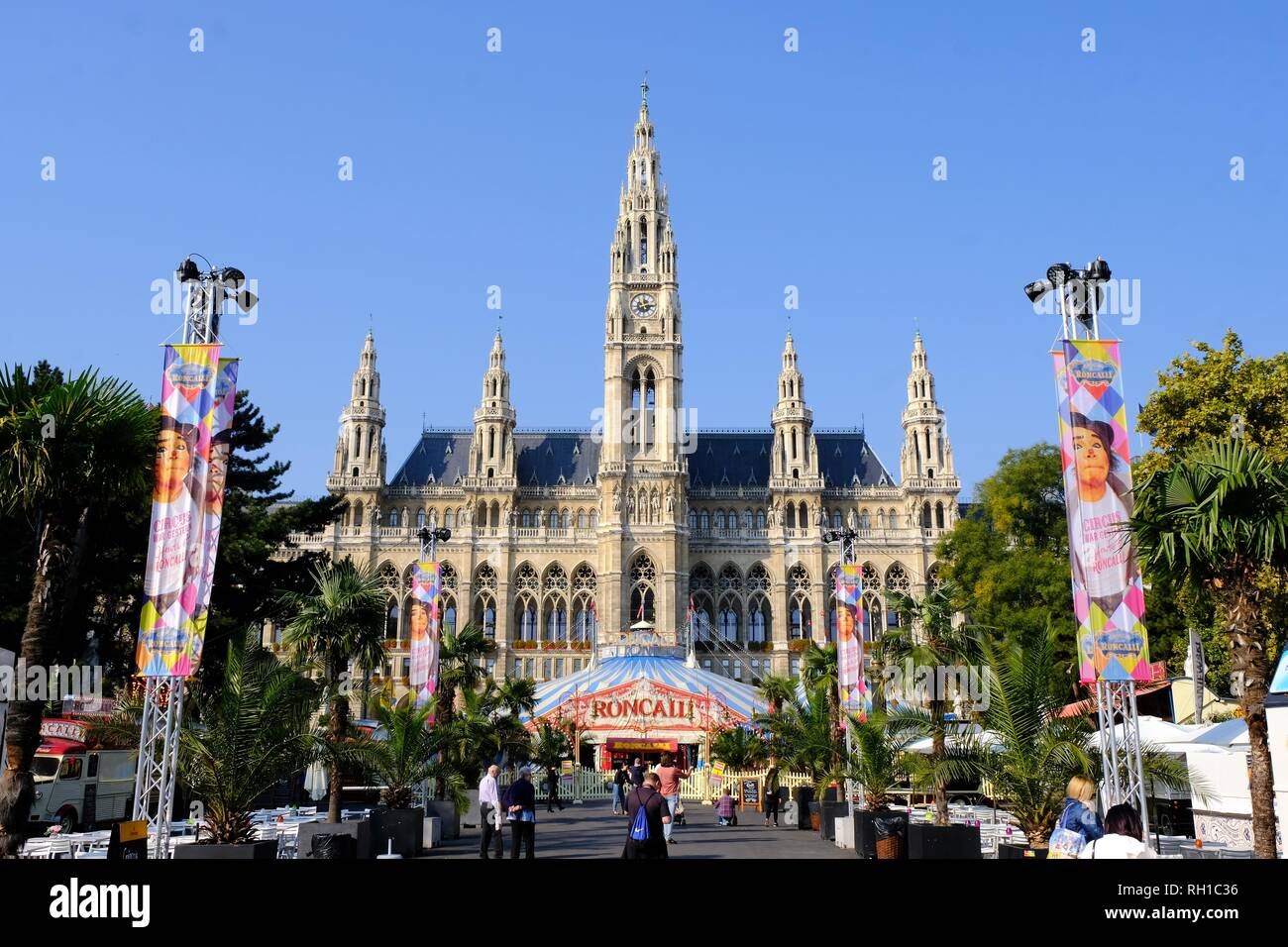Vienna Old Rathaus, the old Rat House or Town Hall, Austria - Stock Image
