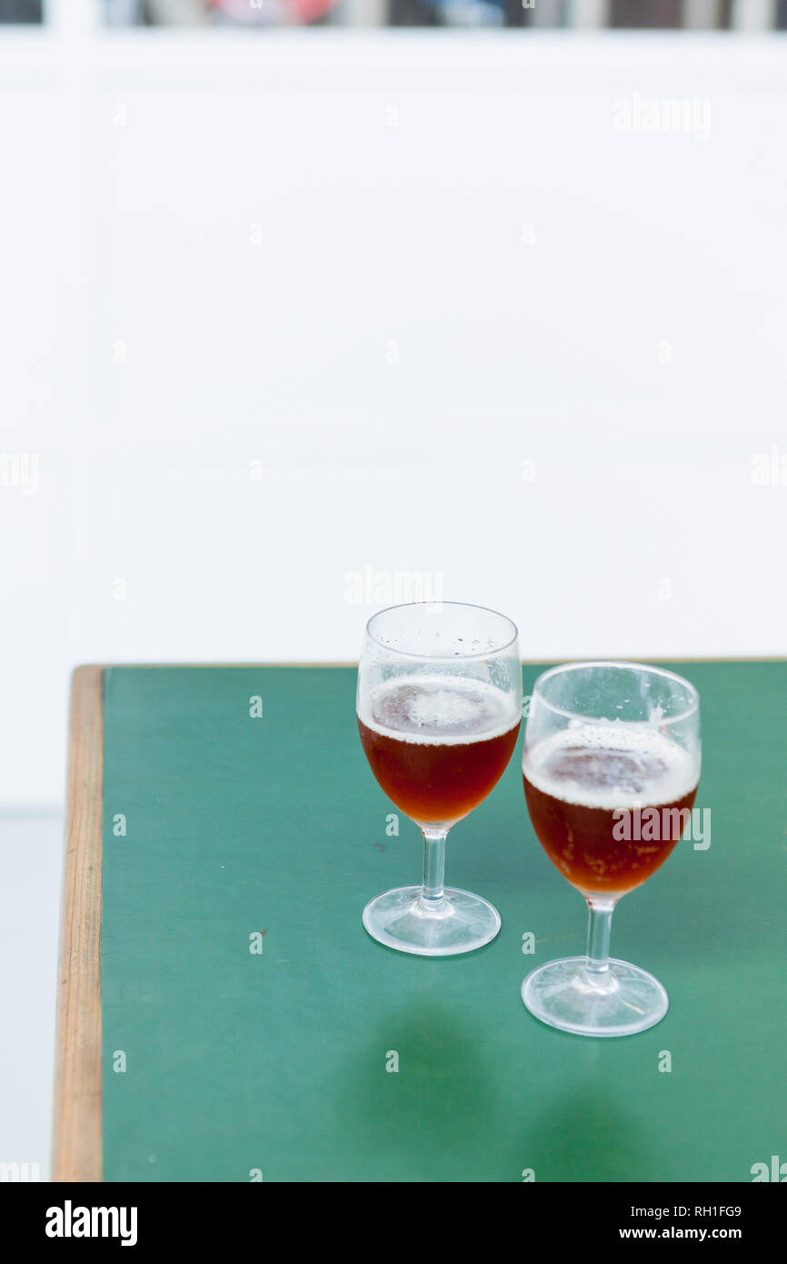Beer tasting, Birrificio Milano - Stock Image