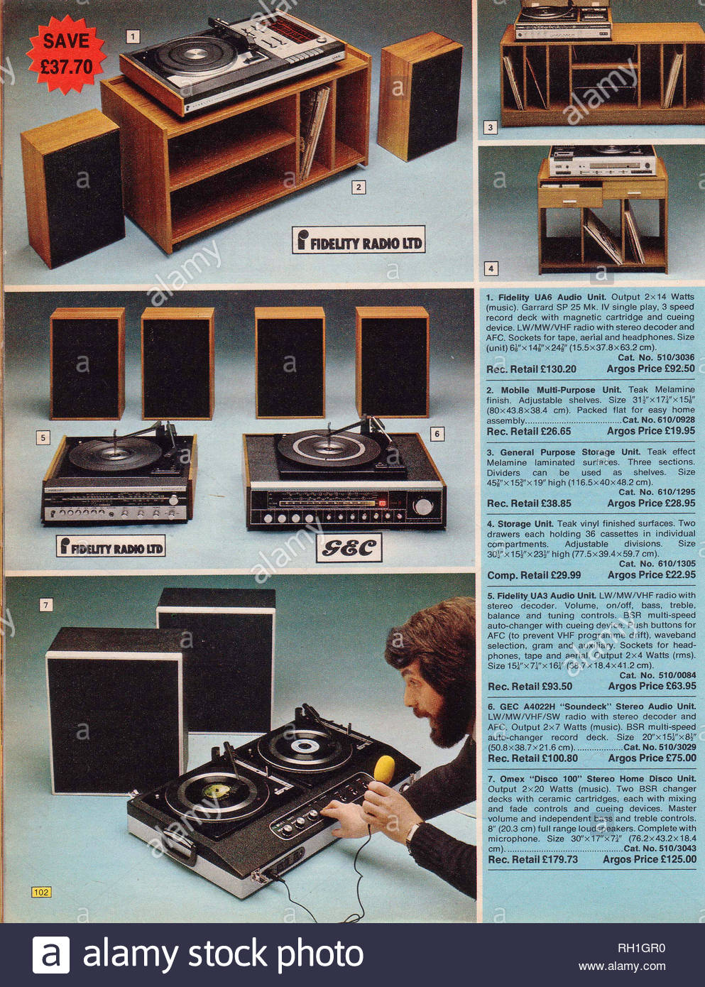 Record Player 1970s Stock Photos & Record Player 1970s Stock Images
