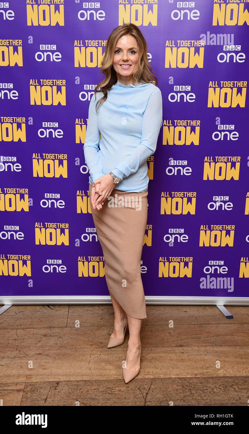 Geri Horner in central London at the screening of their new BBC1 show, All Together Now. - Stock Image