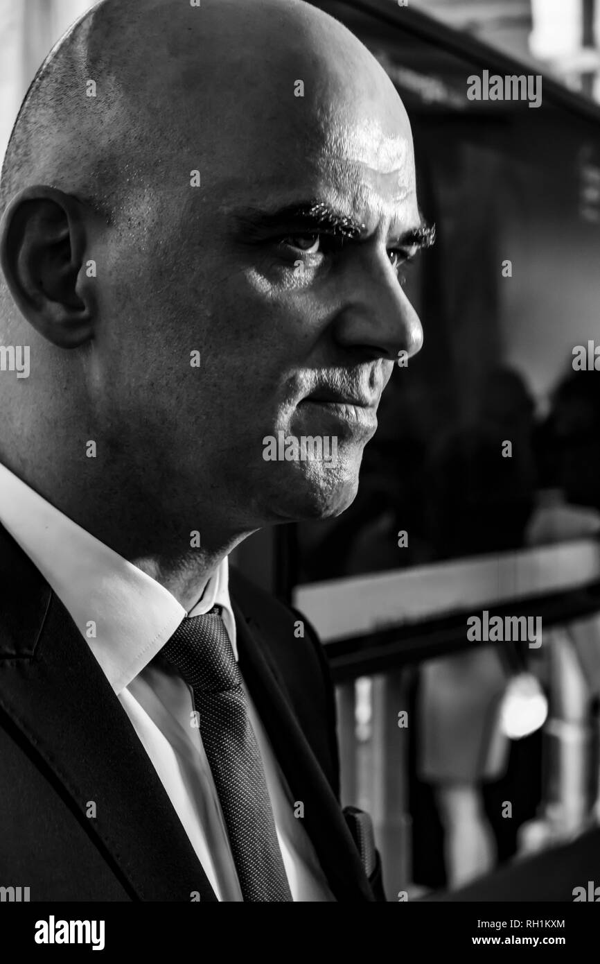 Swiss President Alain Berset in Film Festival Locarno on 1 August 2018 on Switzerland's National Day in Ticino, Switzerland. - Stock Image
