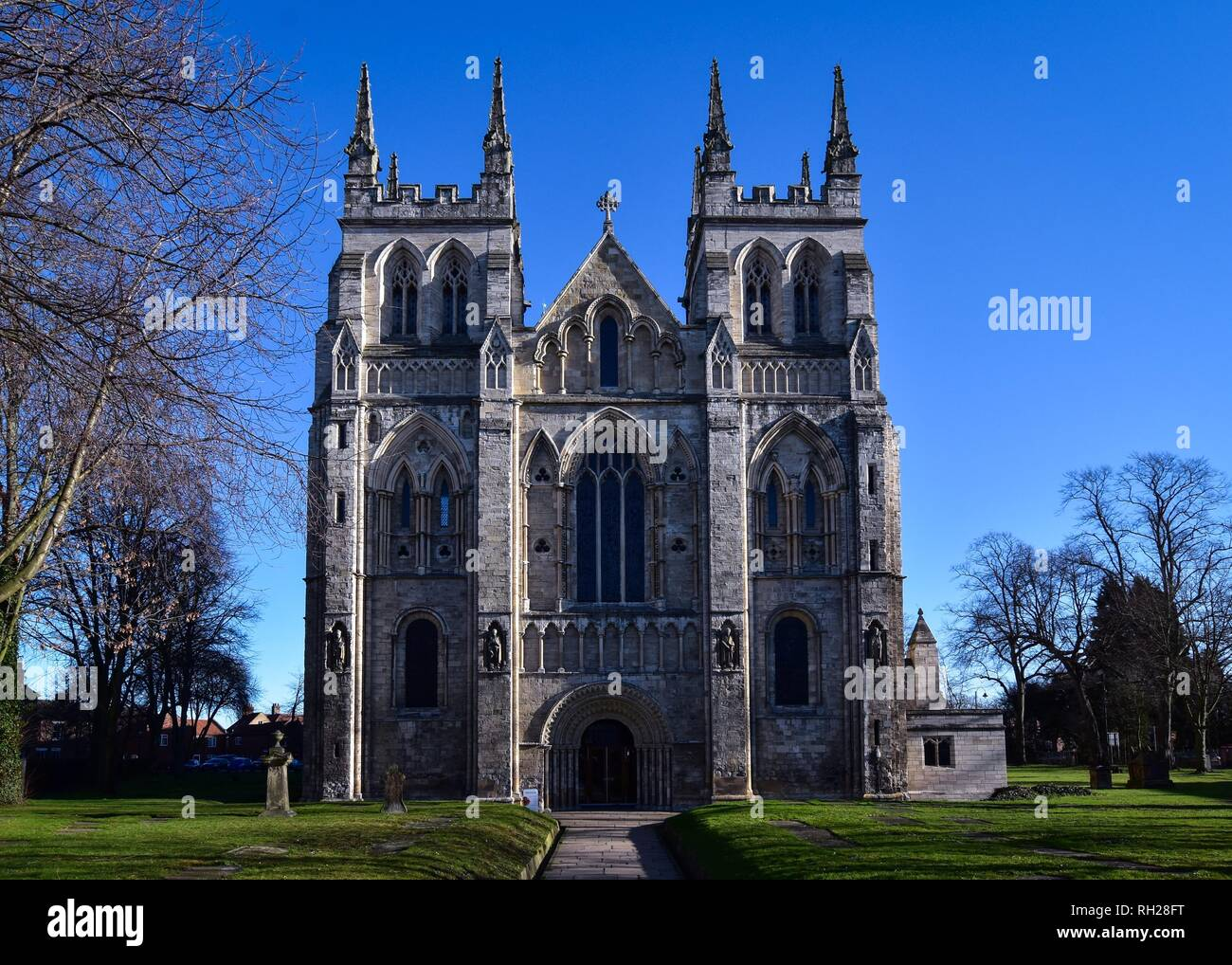 Selby Abbey West End - Stock Image