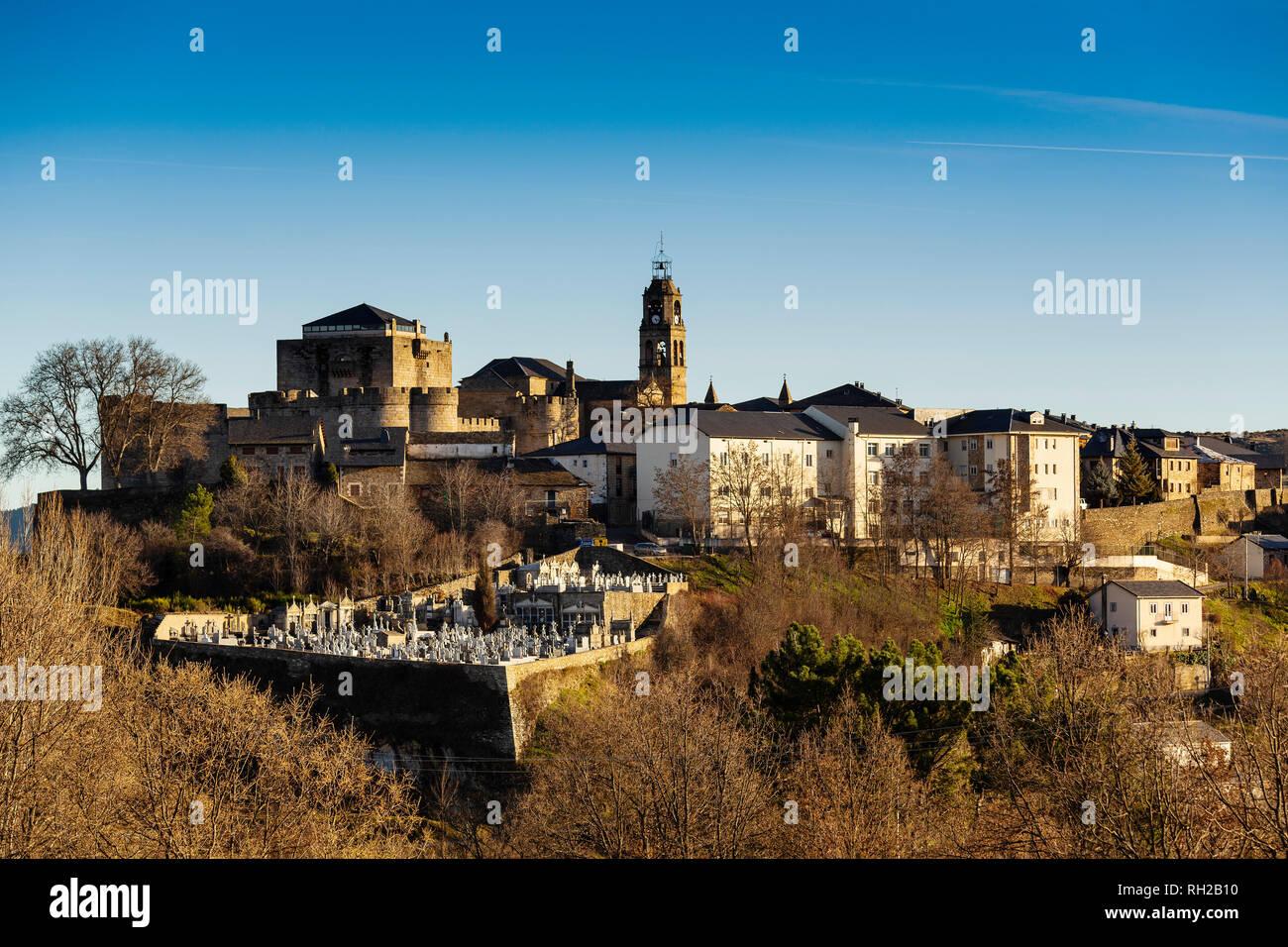 Medieval town of Puebla de Sanabria, Zamora province. Castilla Leon, Spain. Europe - Stock Image
