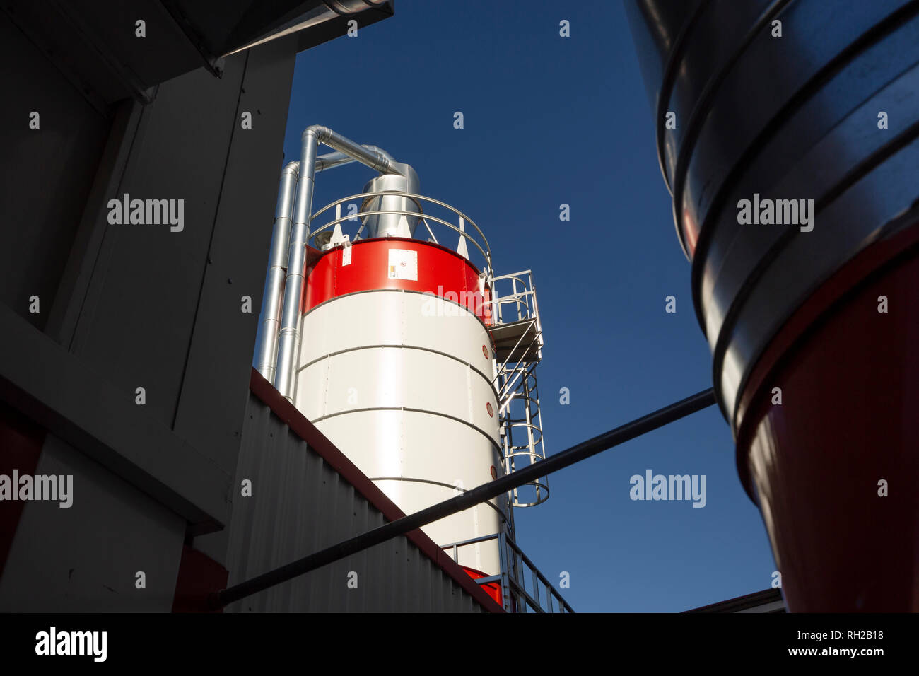 Industrial dust collector in a wood factory. Monda, Malaga province. Andalusia Spain. Europe - Stock Image