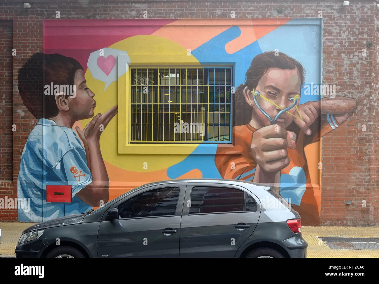 Street Art, Buenos Aires – Equality - Stock Image