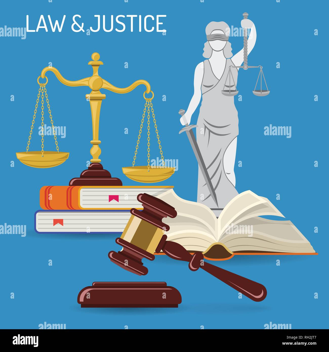 Law and Justice Concept - Stock Vector