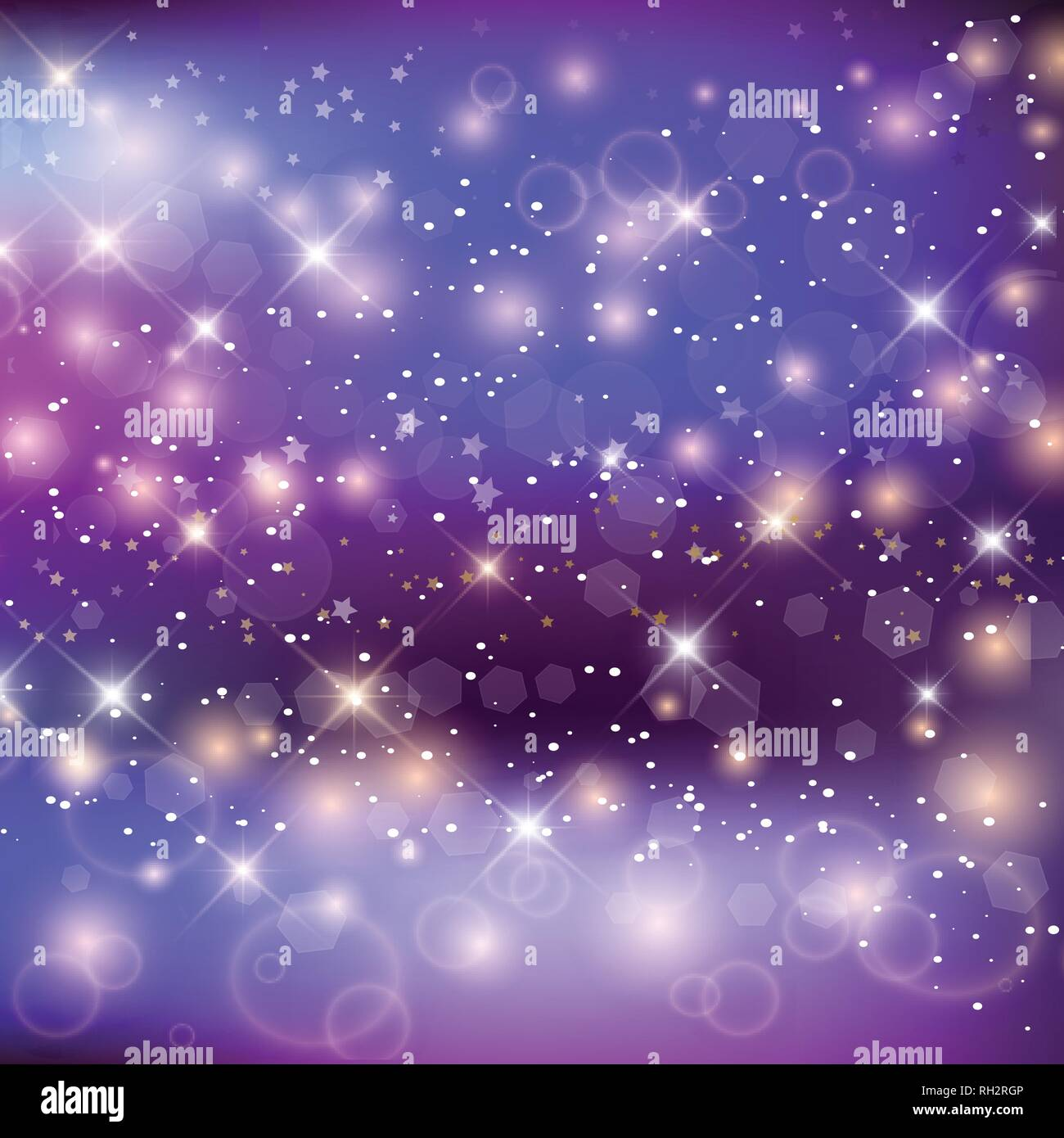 Magic Night Background With Rainbow Mesh. Kawaii Universe Banner In Princess Colors. Fantasy Gradient Backdrop With Hologram. Holographic Magic Backgr - Stock Vector
