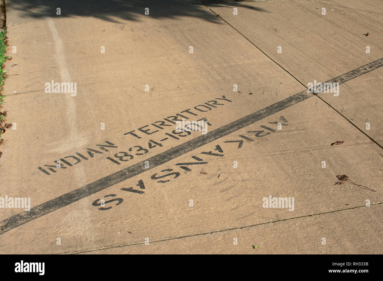 Original end of the Trail of Tears, Fort Smith National Historic Site, Arkansas. Digital photograph - Stock Image