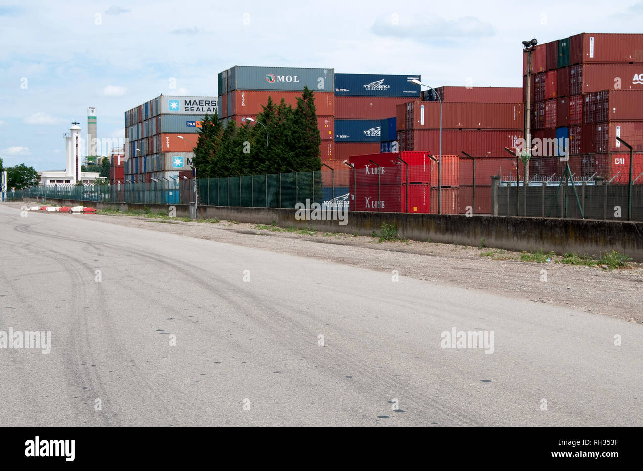 Port Edouard Herriot Lyon Stock Photo