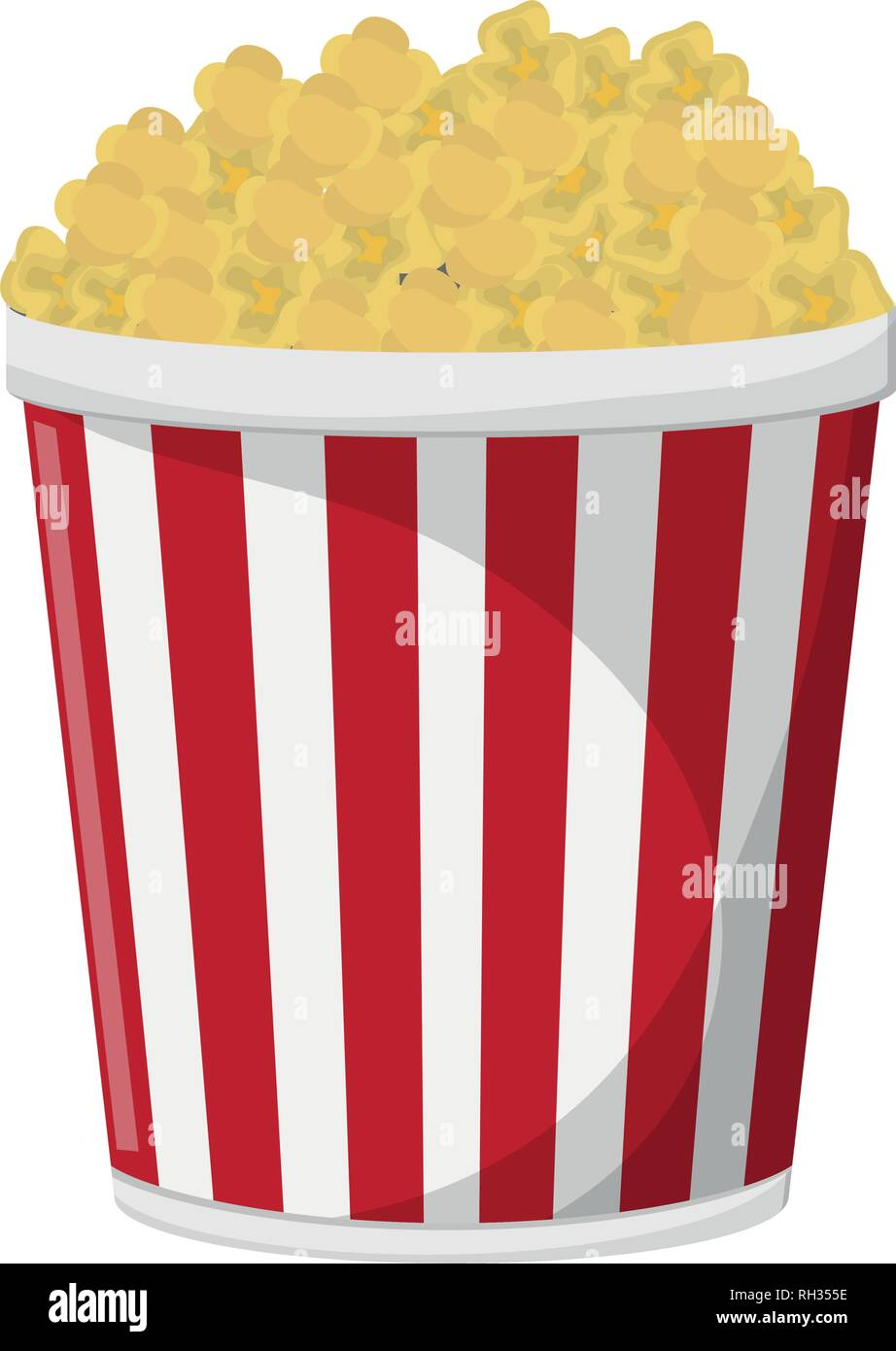 Pop Corn Bucket Snack Stock Vector Image Art Alamy