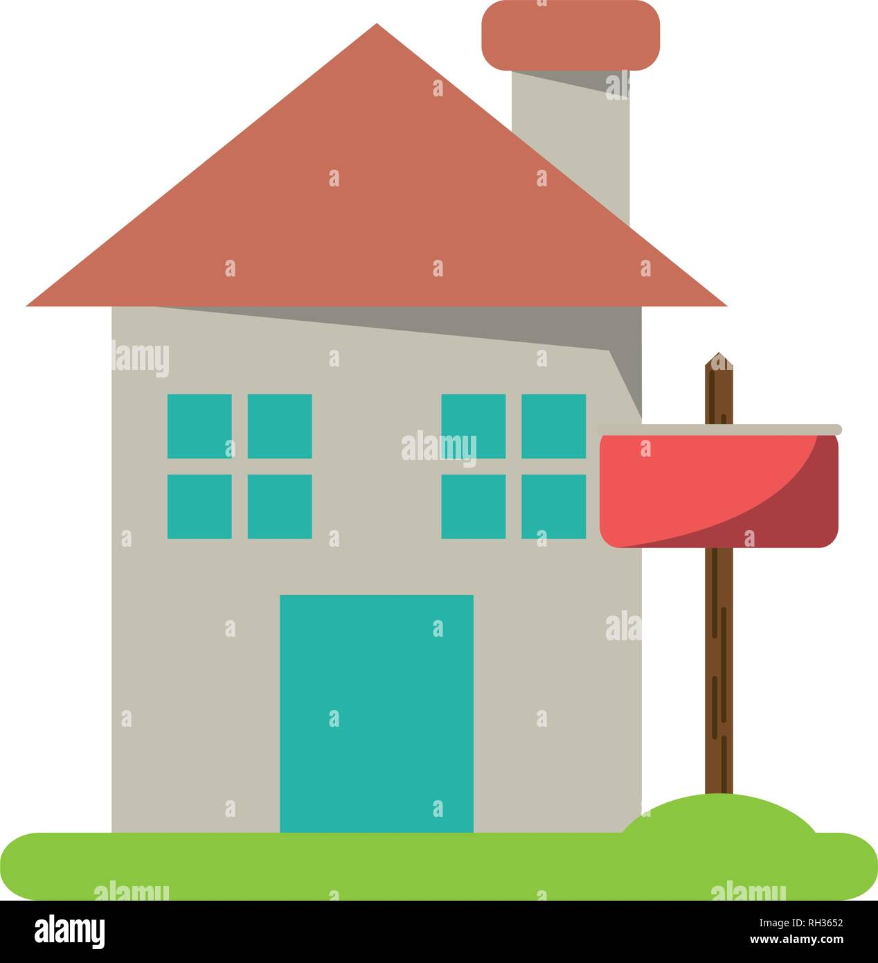 Real estate house - Stock Image